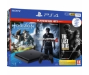 Sony PS4 Slim (PlayStation 4), 1TB, Negru + Horizon: Zero Dawn + Uncharted 4: A Thief`s End + The